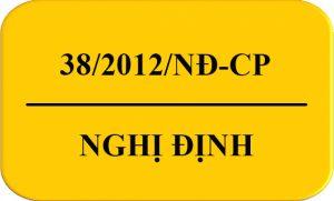 Nghị Định 38/2012/NĐ-CP QĐ Luật ATTP