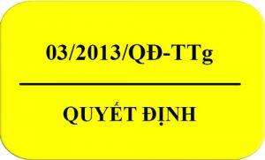 Quyết Định Số: 03/2013/QĐ-TTg Thiết Bị Phải Dán NNL