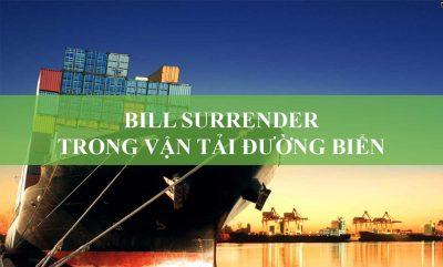 Bill Surrender Trong Vận Tải Đường Biển
