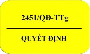 Quyết Định 2451/QĐ-TTg