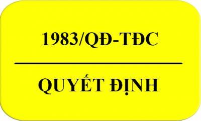 Quyết Định 1983/QĐ-TDC