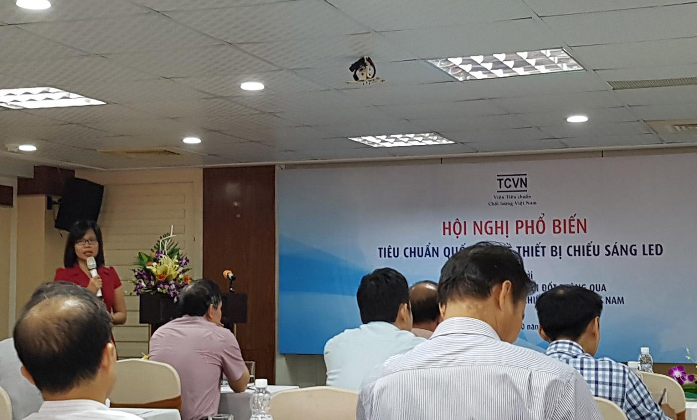 Bà Đoàn Thị Thanh Vân – Trưởng phòng Tiêu chuẩn Điện – Điện tử Viện Tiêu chuẩn Chất lượng Việt Nam