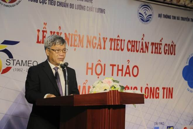 Ông Trần Việt Thanh - Thứ trưởng Bộ Khoa học và Công nghệphát biểu khai mạc