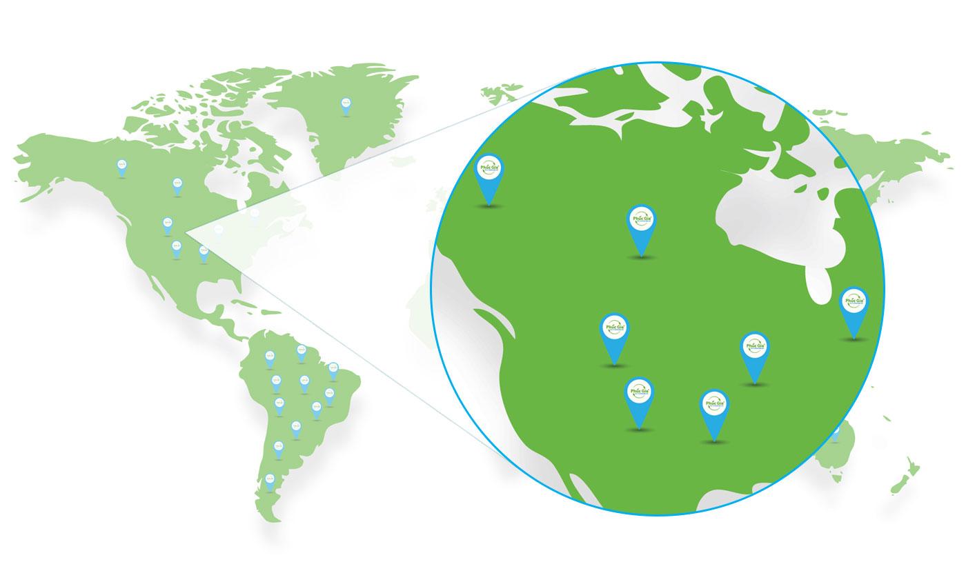 Logistics Phúc Gia Khu Vực Bắc Mỹ