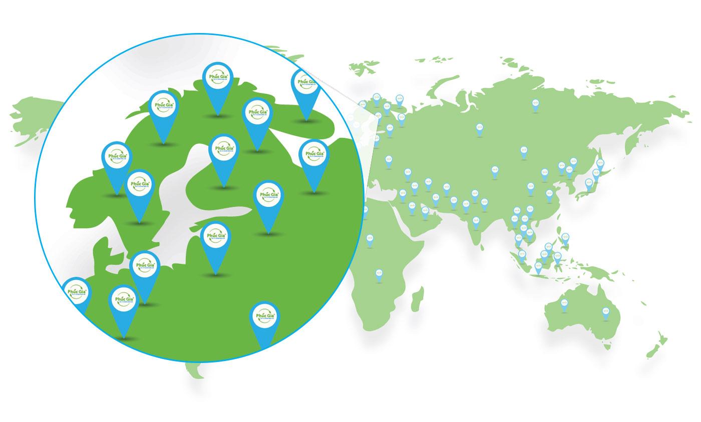 Logistics Phúc Gia Khu Vực Châu Âu