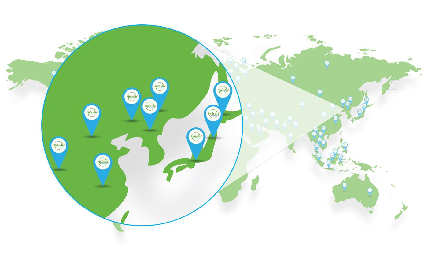 Logistics Phúc Gia Khu Vực Đông Á