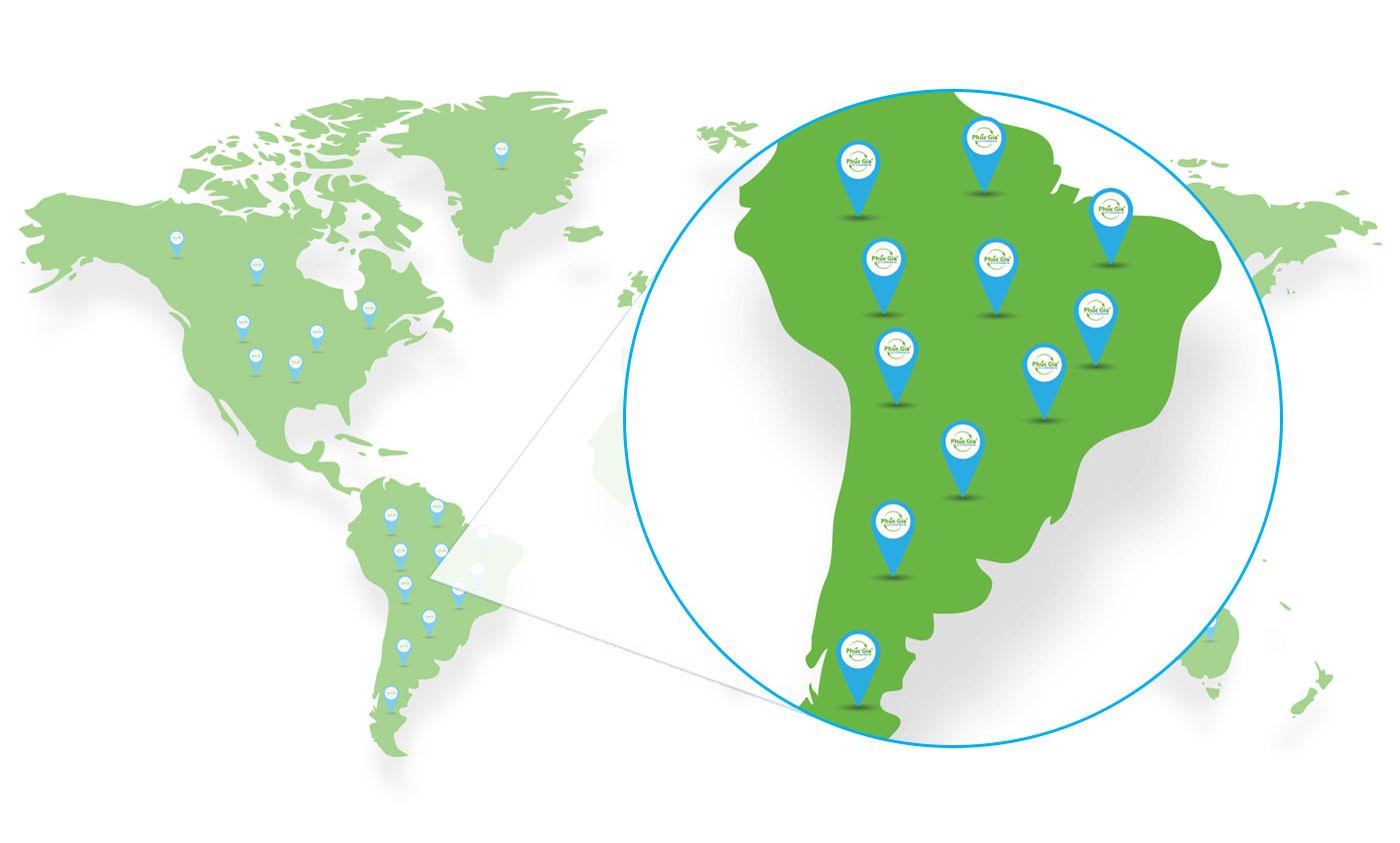Logistisc Phúc Gia Khu Vực Nam Mỹ