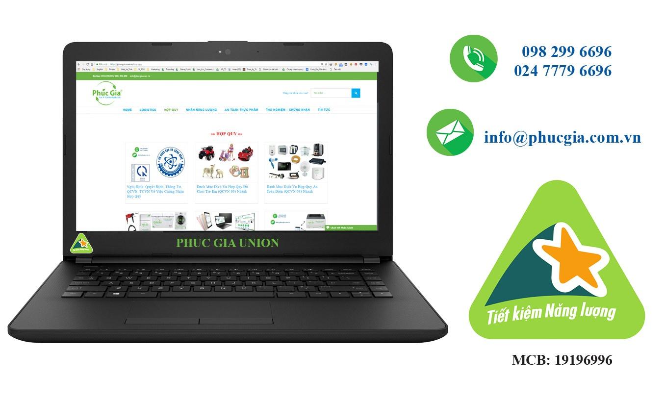 nhãn năng lượng laptop/ máy tính xách tay
