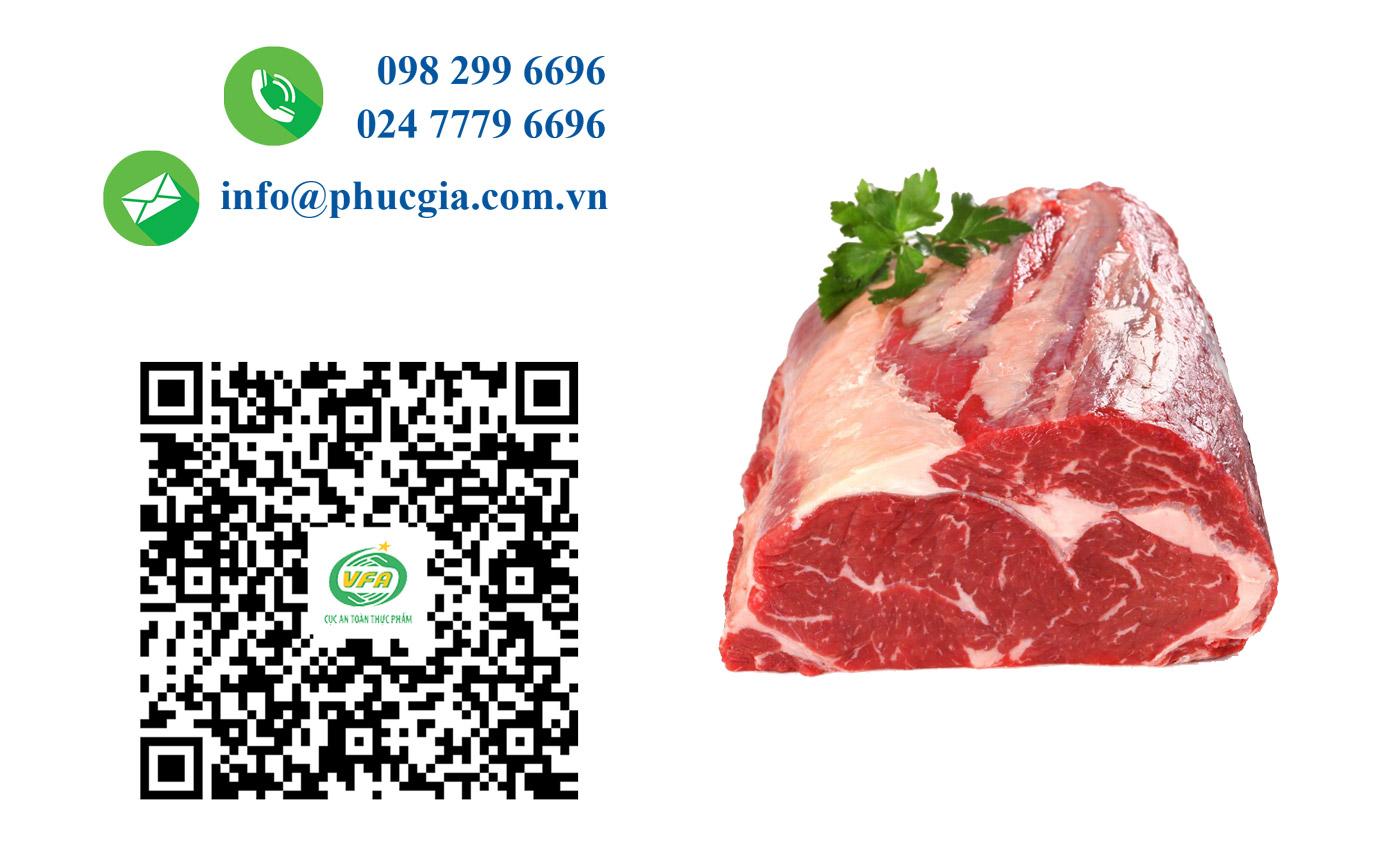 Công Bố ATTP Thịt Bò Đông Lạnh