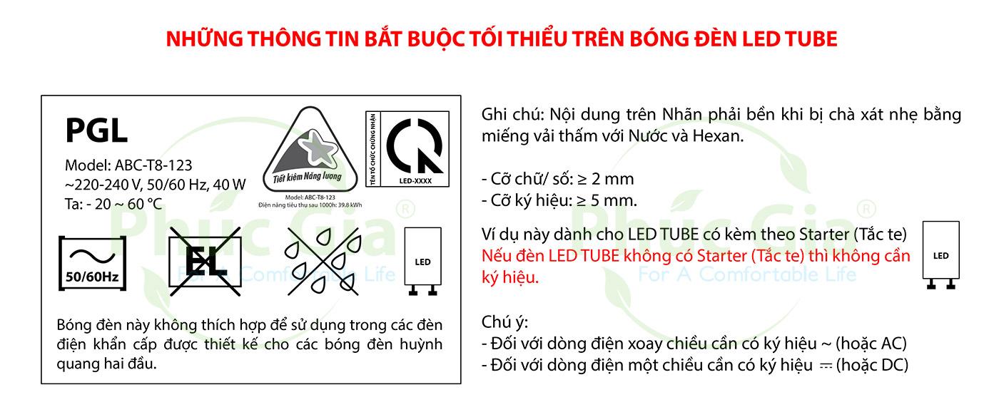 Nhãn đèn LED tube