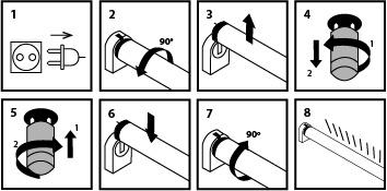 các bước tháo lắp đèn LED tube