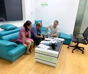 Phúc Gia Lab làm việc với Phó chủ tịch Hội khoa học điện lạnh