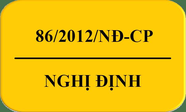 Nghị định 86/2012/NĐ-CP