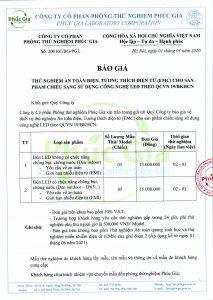 Báo giá PGL QCVN 19/BKHCN