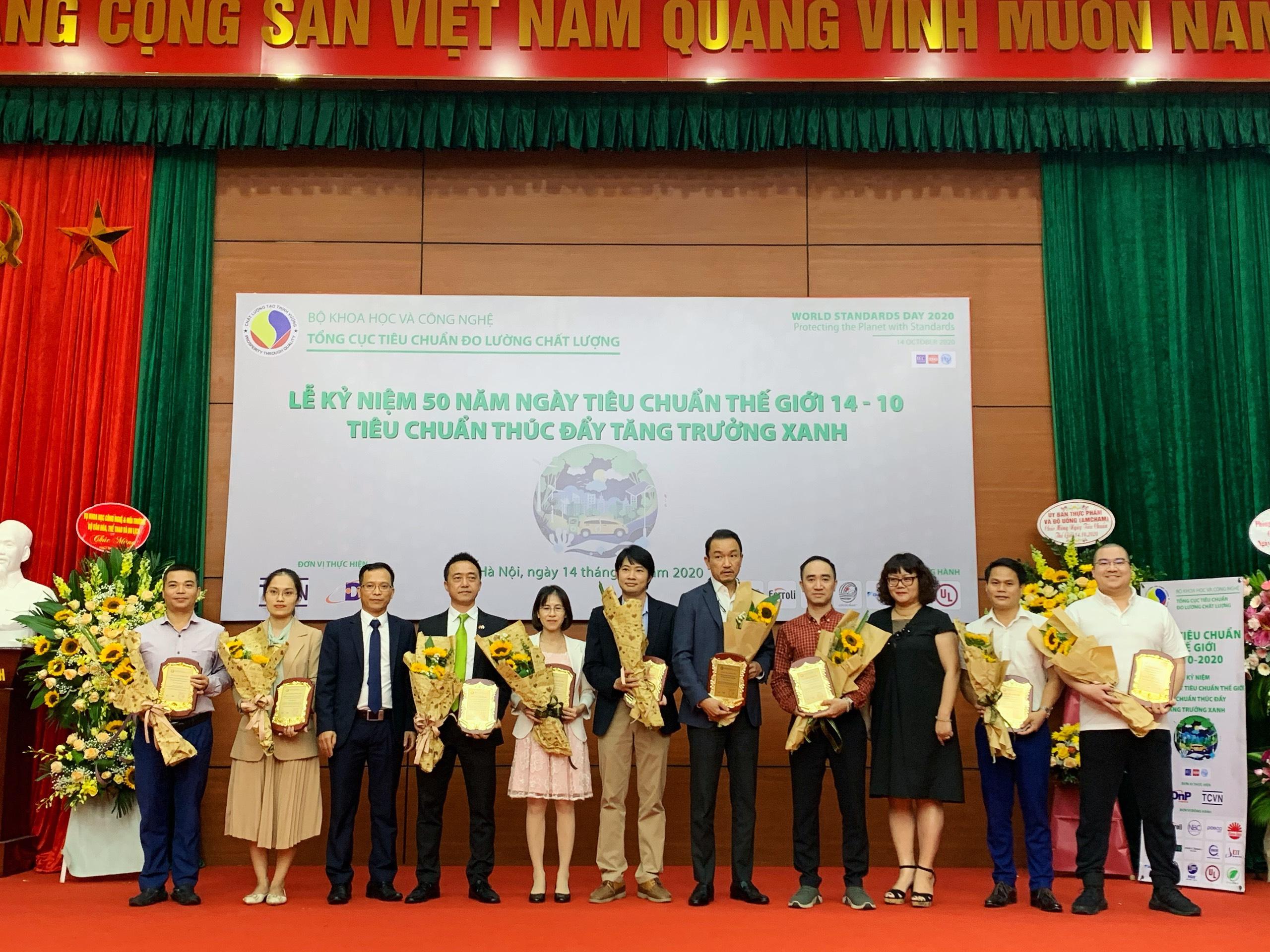 Lễ vinh danh các Tổ chức đồng hành cùng Viện Tiêu chuẩn chất lượng Việt Nam